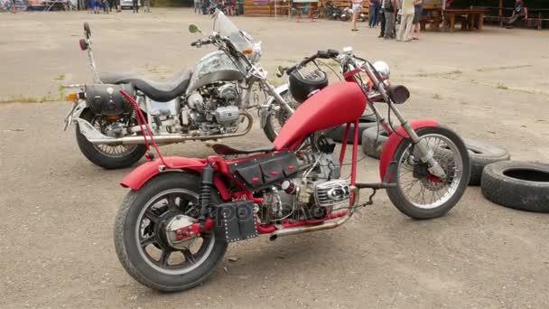 Krásný motocykl na festivalu