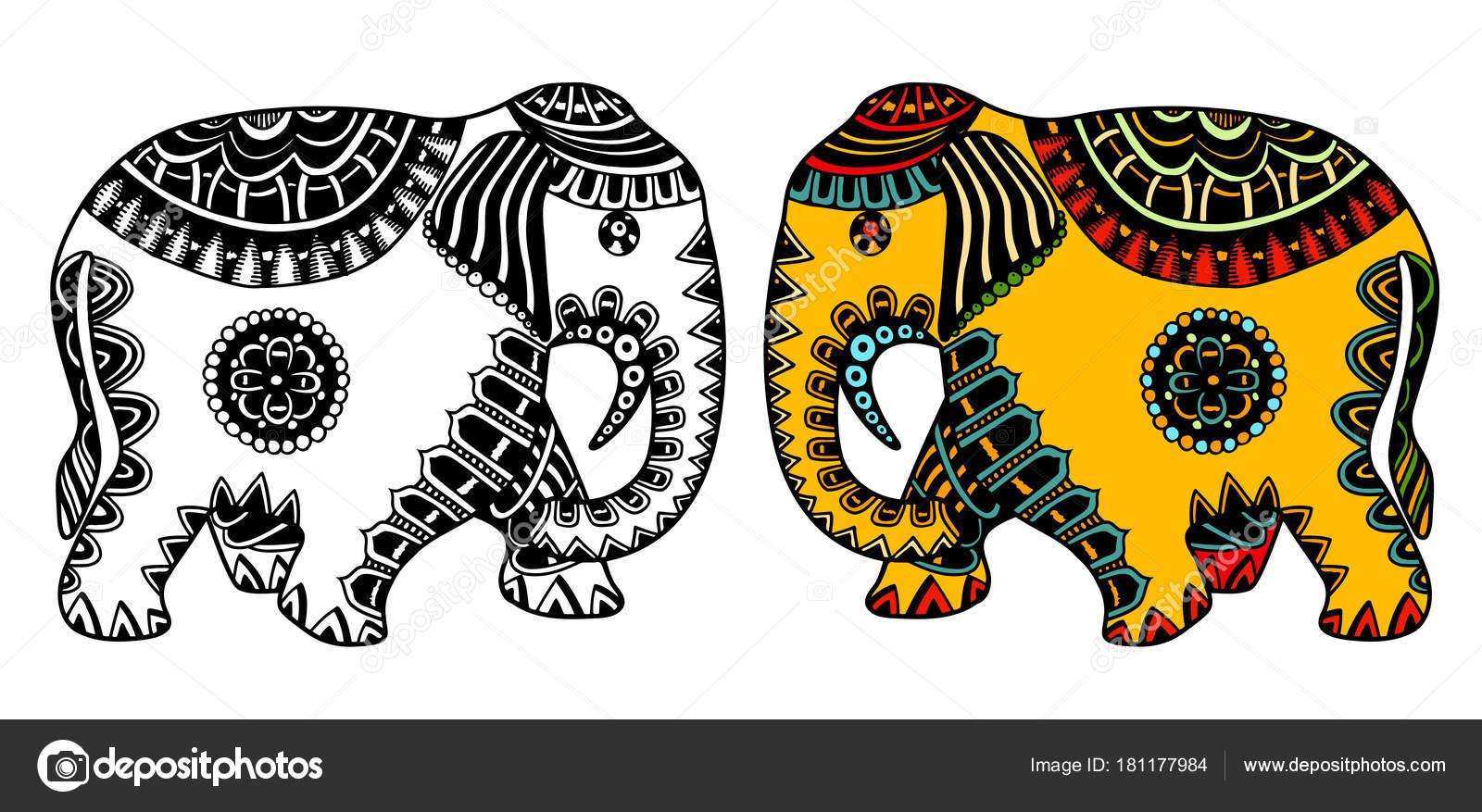 D Coration L Phant Indien Image Vectorielle Frescomovie 181177984