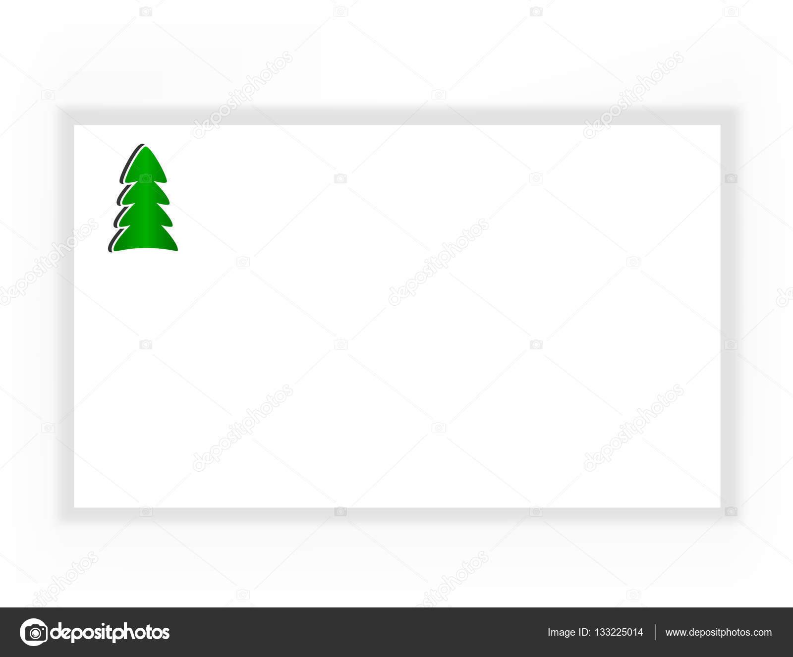簡単なクリスマス カードベクトル イラスト ストックベクター