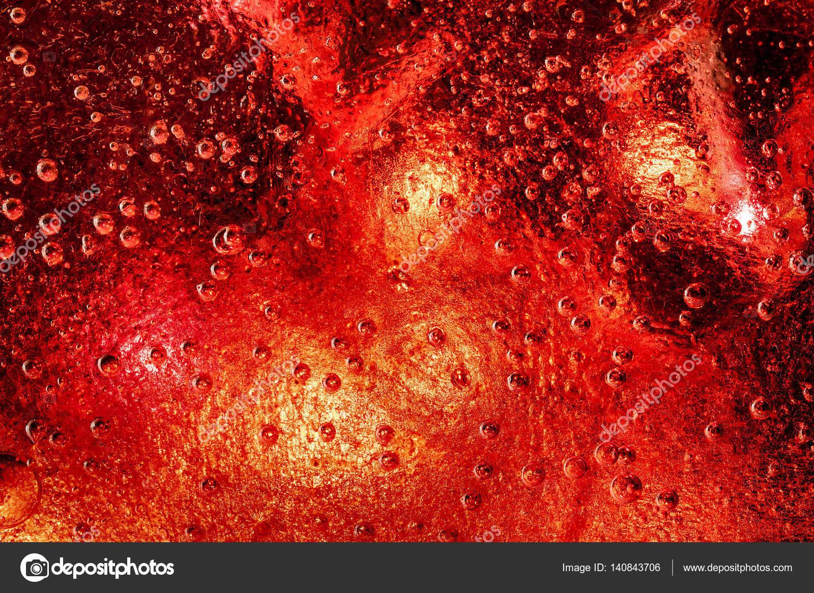 Congelados de hielo fondo con color rojo por debajo de — Fotos de ...