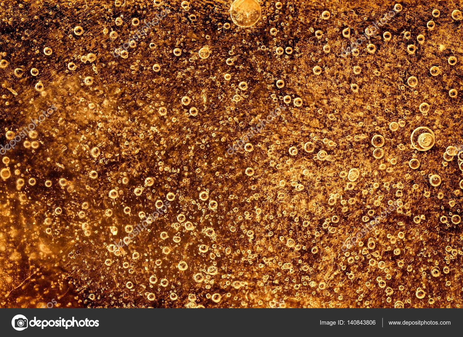 Fondo hielo congelado con color oro abajo — Foto de stock © mreco99 ...