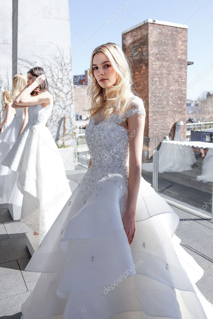 35da1e3ffd Model show up for RIVINI and Alyne Spring 2017 Bridal Collection by Rita  Vinieris at Standard