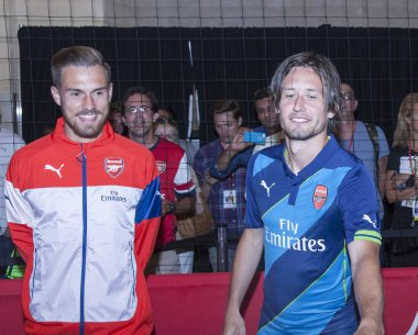 Aaron Ramsey and Tomas Rosicky