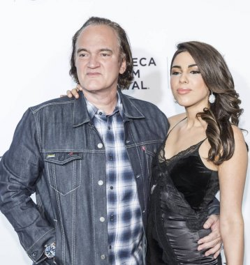 Director Quentin Tarantino and Courtney Hoffman