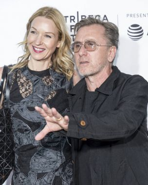 Nikki Butler and Tim Roth