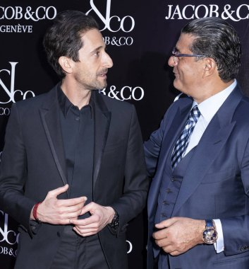 actor Adrien Brody and Jacob Arabo