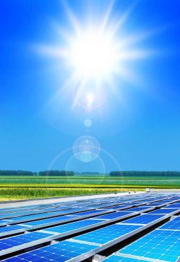 solarpanels under sun