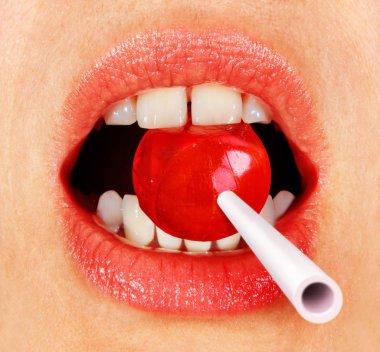lollipop in mouth