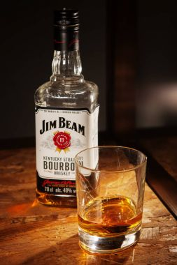 bottle of Jim Beam whisky