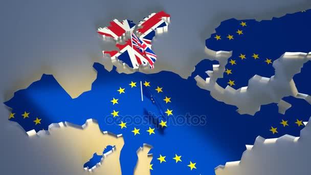 Mapa Evropy s státní vlajka