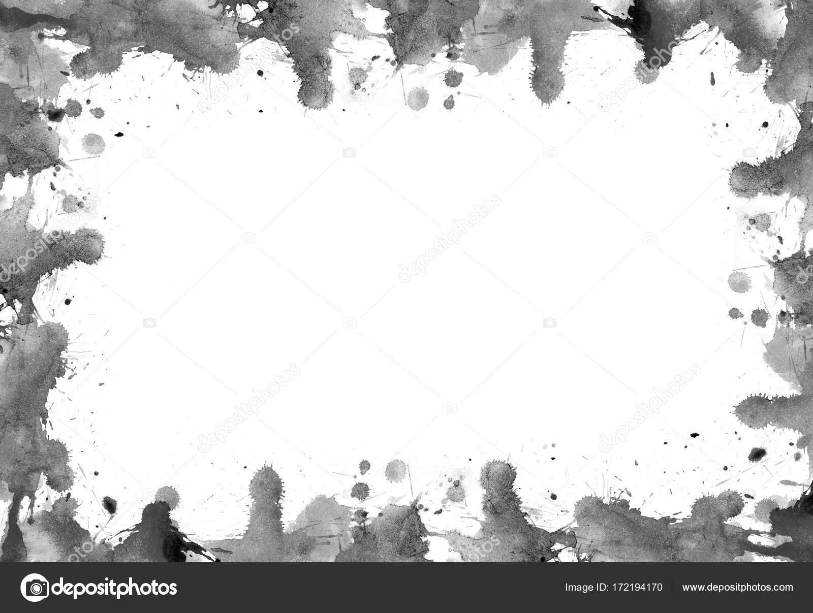 Marco de manchas y salpicaduras de pinturas de acuarelas — Foto de ...