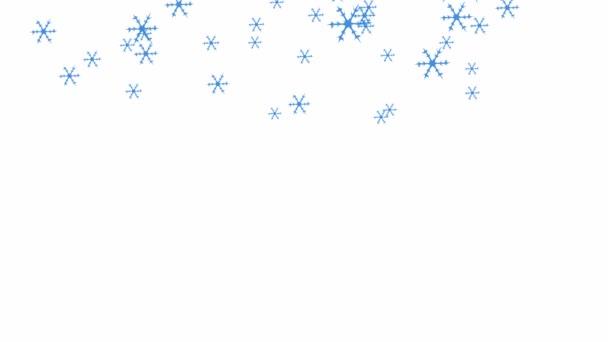 Hópehely esik le a fehér háttér - elvont animáció