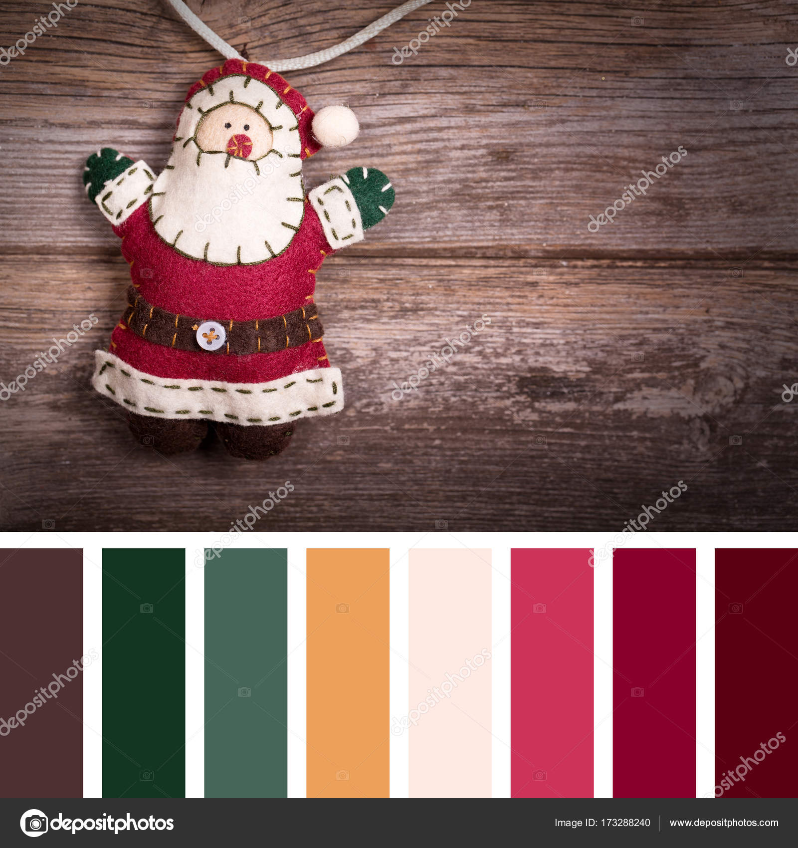 Hecho Mano Fieltro Decoracin Navidad Pap Noel Estilo Vintage