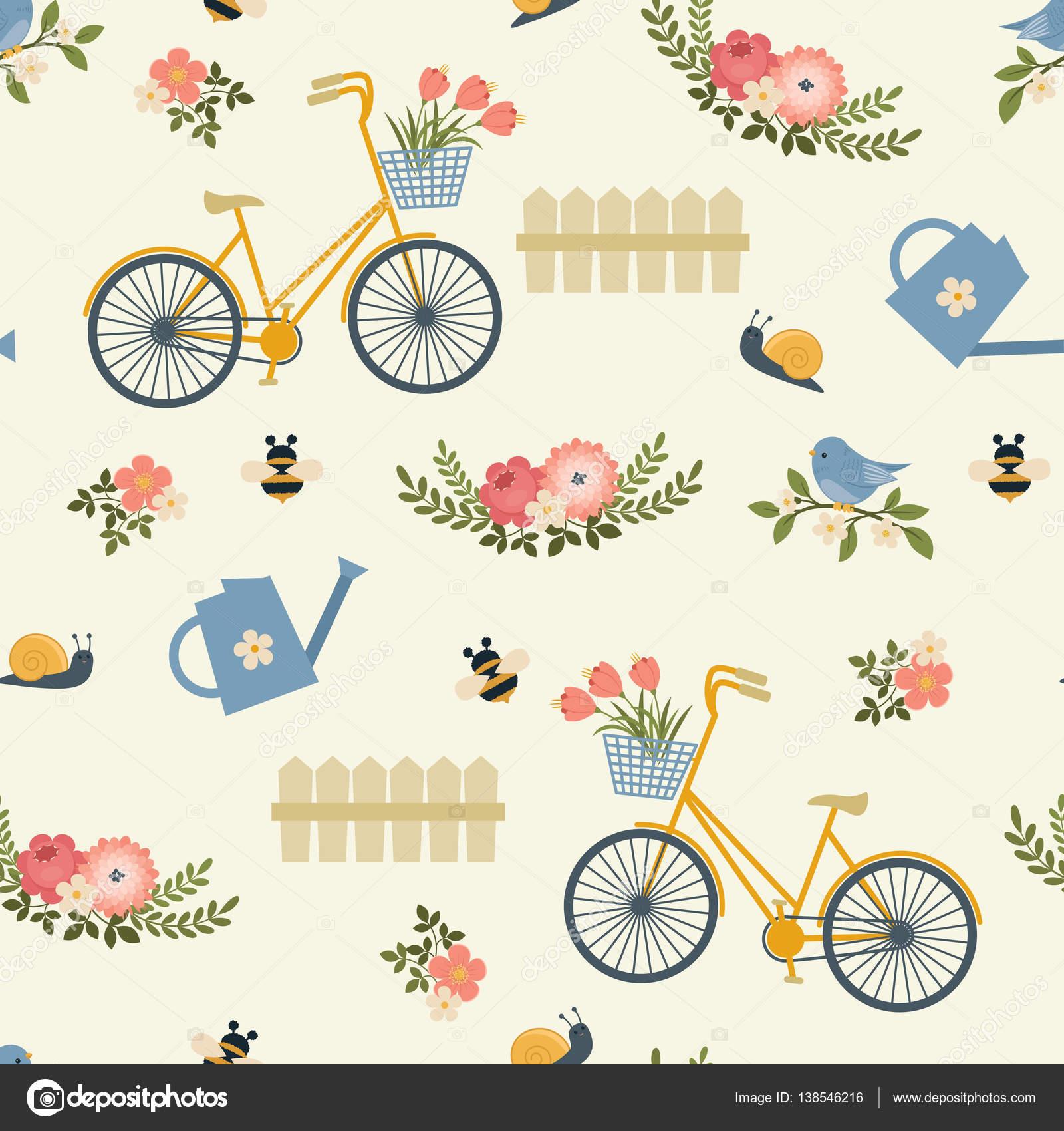 patrón sin costuras floral primavera — Vector de stock © Natalie-art ...