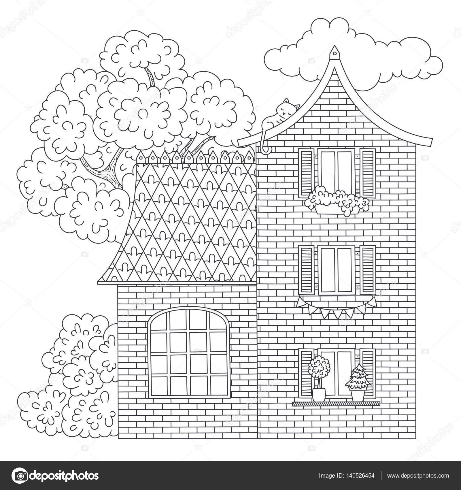 Malvorlagen Haus — Stockvektor © Natalie-art #140526454