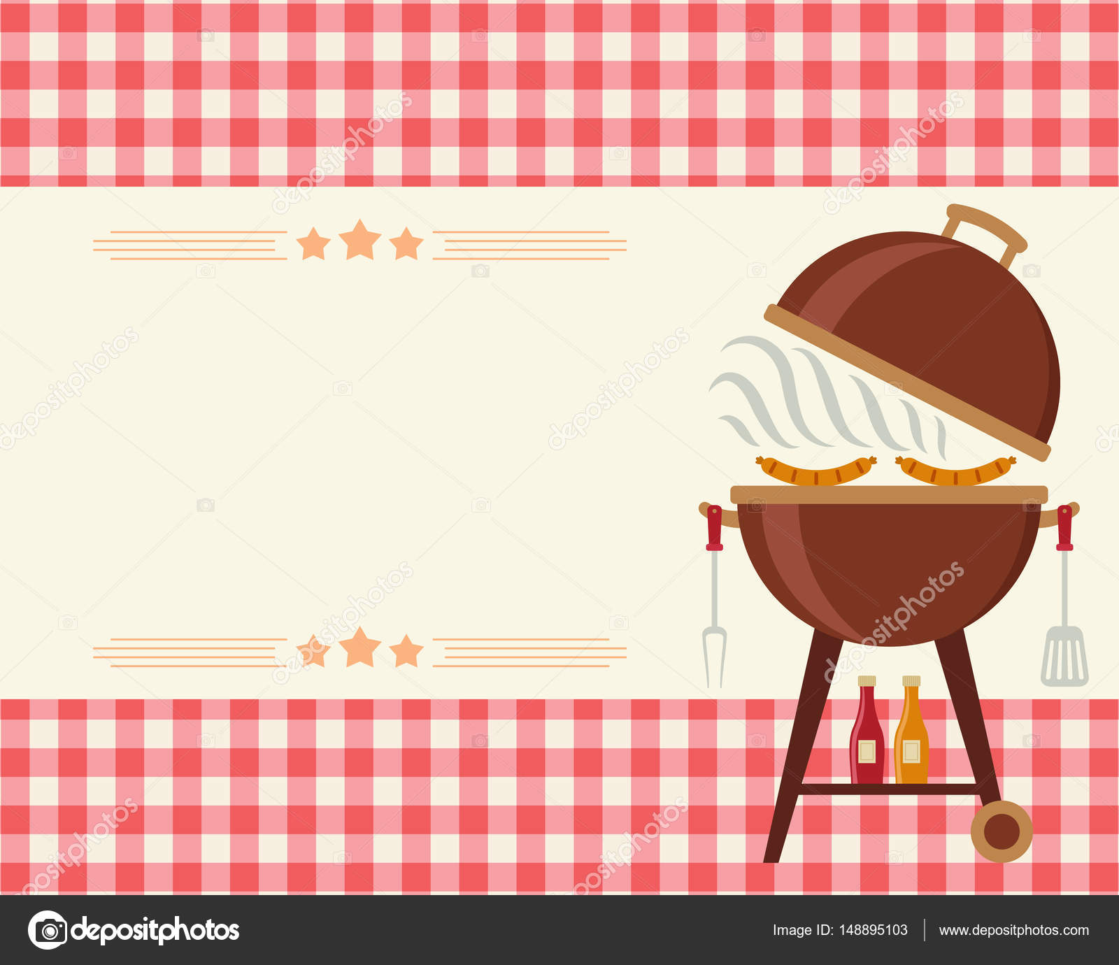 barbecue party blank invitation stock vector natalie art 148895103