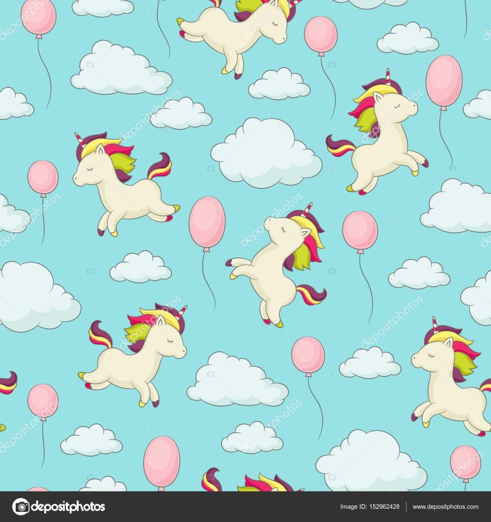 Unicorn seamless pattern — Stock Vector © Natalie-art