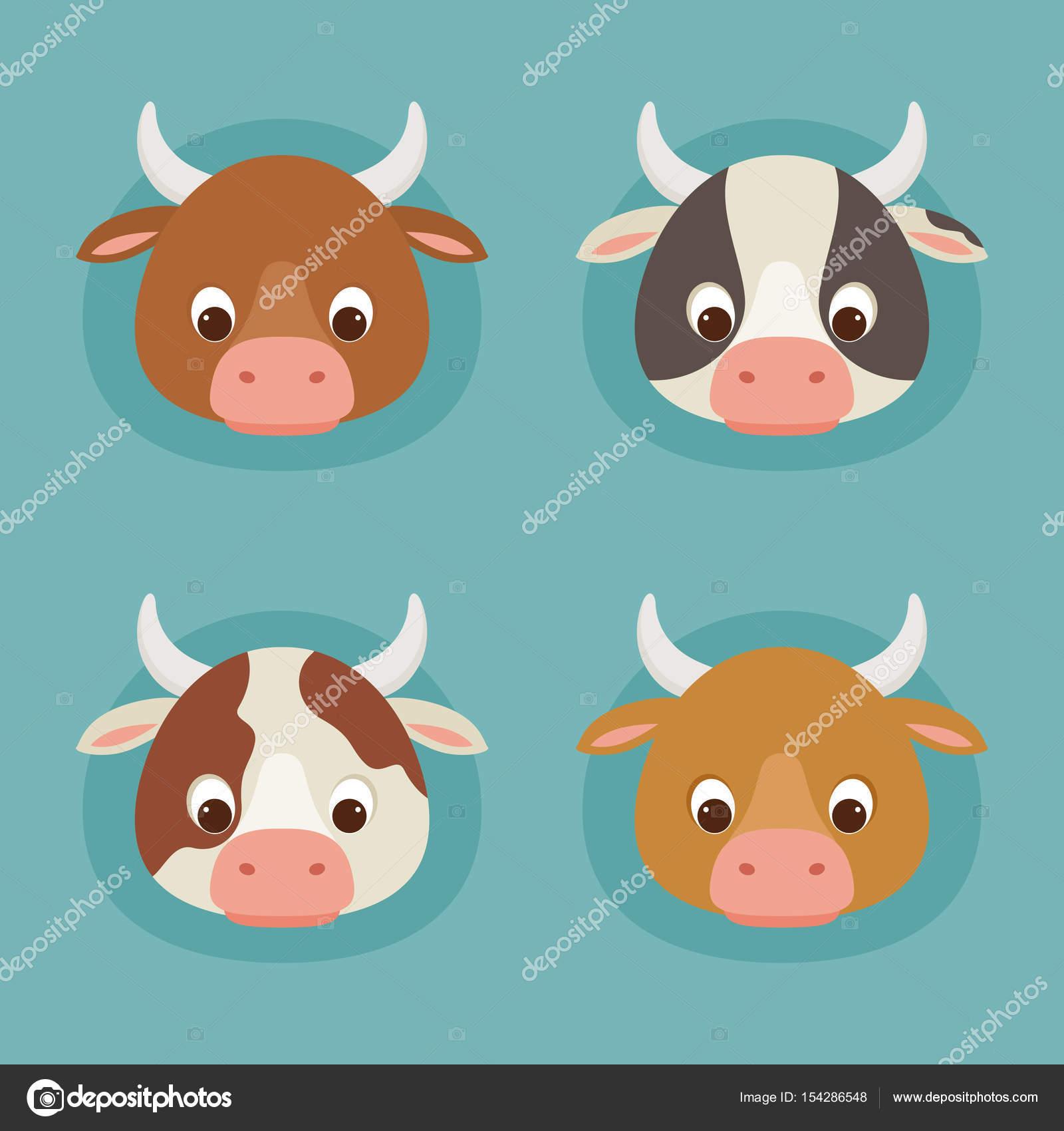 Dibujos Cabezas De Vacas Cuatro Cabezas De Vaca De Dibujos