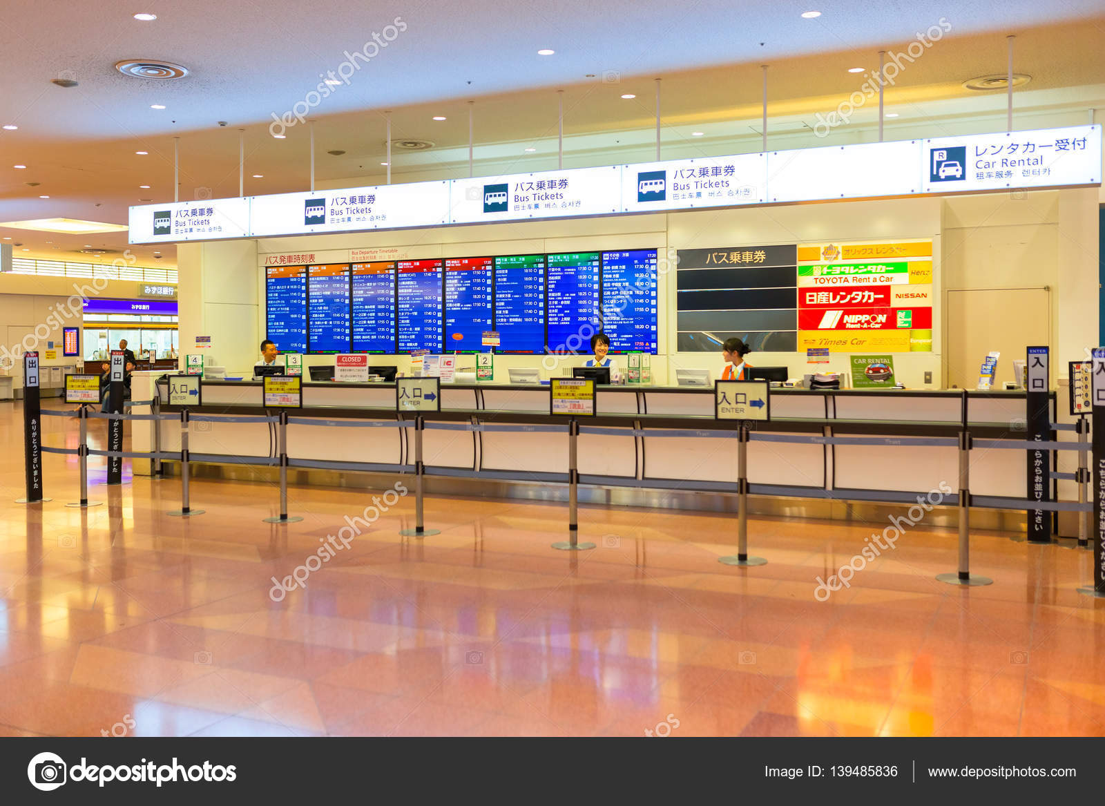 Interior Of Haneda Airport Terminal In Tokyo Japan Stock