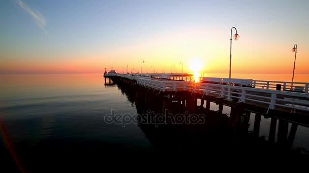 Sonnenaufgang an der Ostsee in Sopot