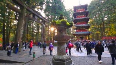 Tourists at Toshogu Shrine temple in Nikko, Japan
