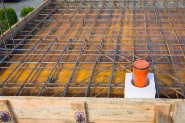 Steel reinforcement for the concrete floor