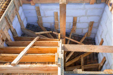 Steel reinforcement for the concrete stairs