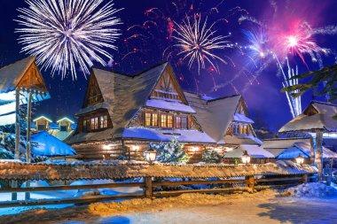 New Years firework display in Zakopane
