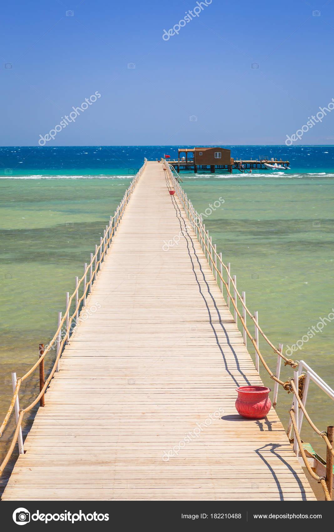 Muelle Playa Del Mar Rojo Hurghada Egipto Foto De Stock