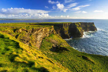 Cliffs of Moher in Ireland at sunny day, Co. Clare