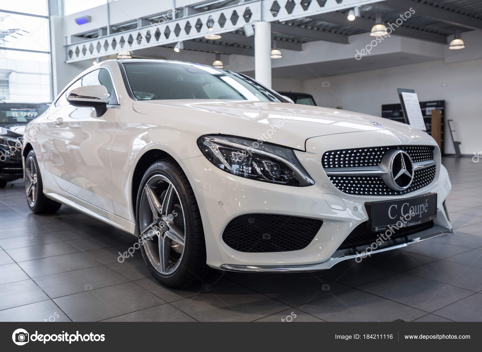 Gdansk Polen Februari 2018 Nieuwe Mercedes Cabrio Showroom Van Auto