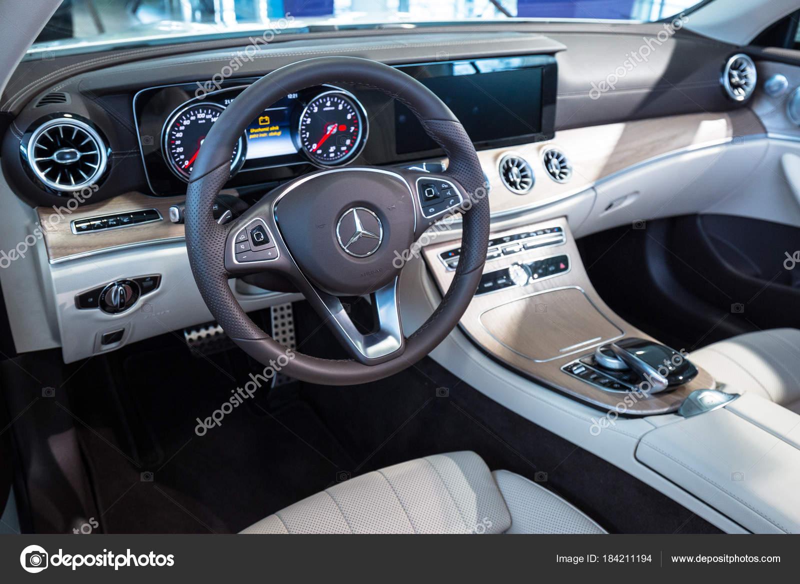 Gdansk Poland February 2018 Interior New Mercedes Cabrio Car