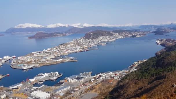 Beautiful Alesund town on the coastline of Norway