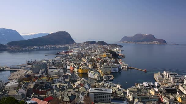 Beautiful Alesund town on the coastline of Norway