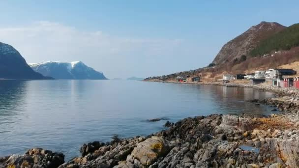 Beautiful scenery of west coastline with fiords in Norway