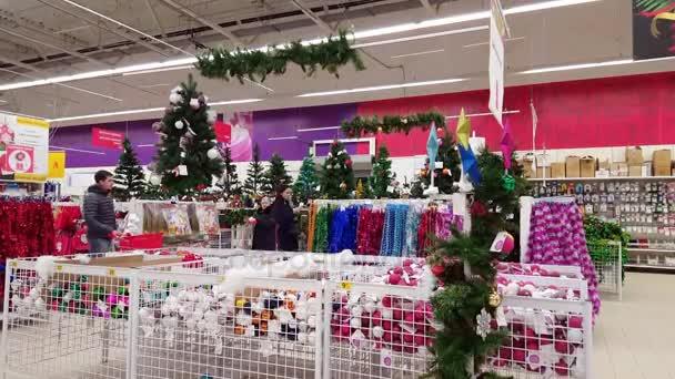 Mosca Russia Dicembre 08 2016 Vendita Di Natale Alberi E Beni Di