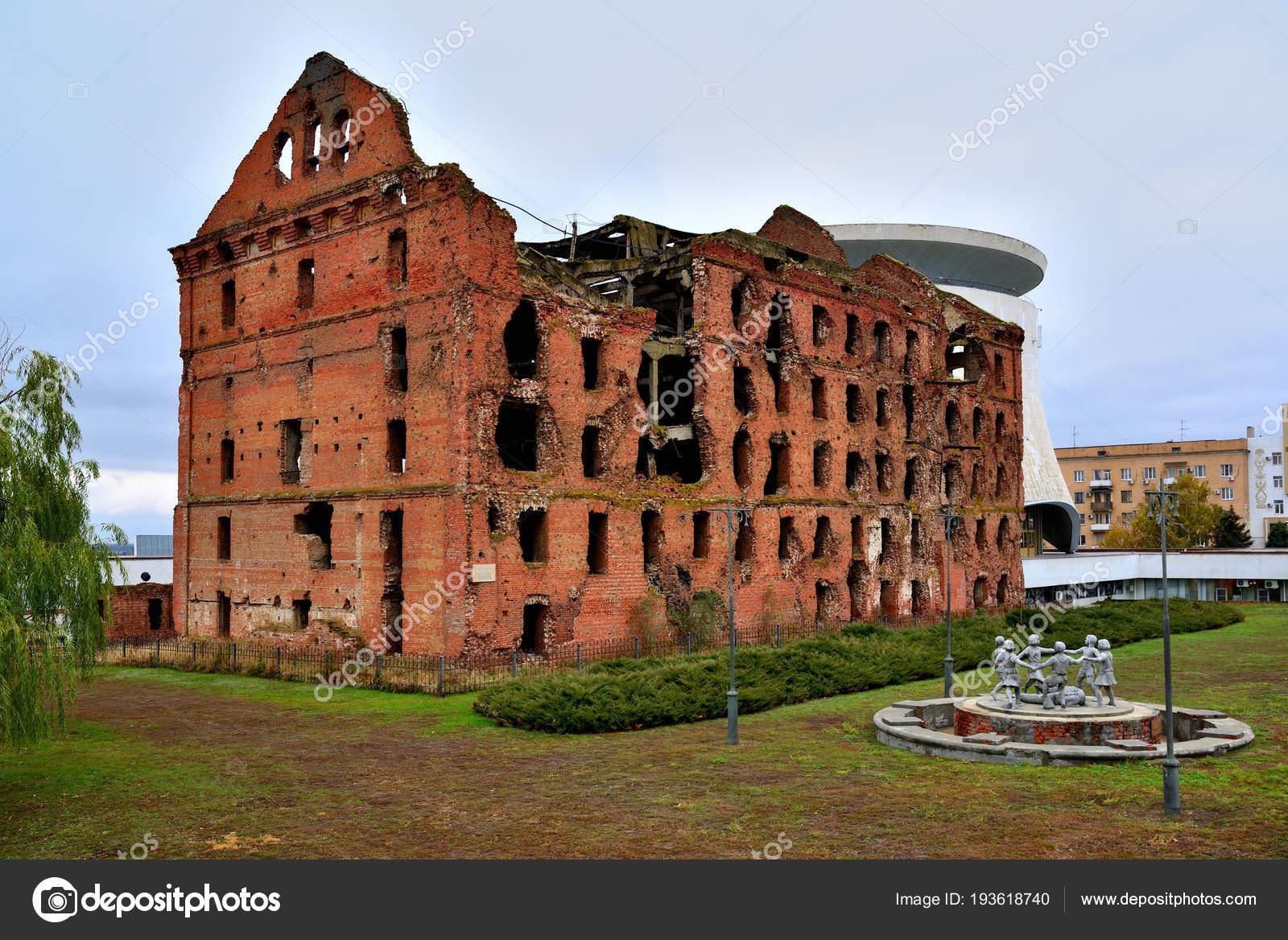 Ruined mill of Gergardt in Volgograd 1