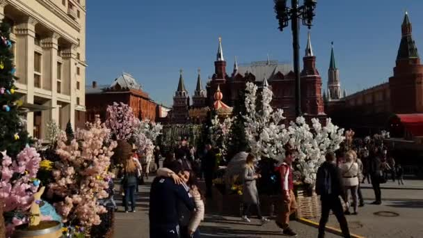 Moscow russia april 14 2018 manege square during festival manege square during festival easter gift negle Images