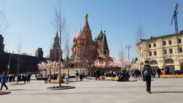 Moscow, Russia - April 14. 2018. St. Basils Cathedral on Red Square