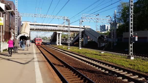 Skhodnya, Russia - May 09. 2018. railway station Skhodnya