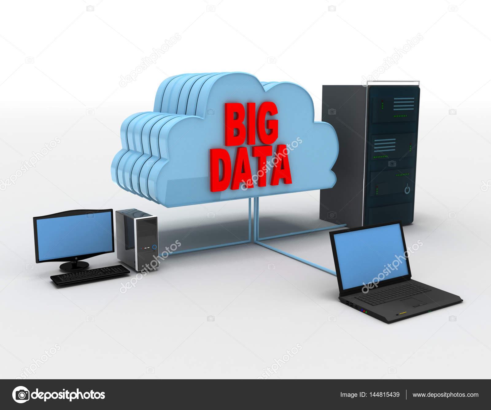 latop computador e servidor conncected para clouds big dados conce