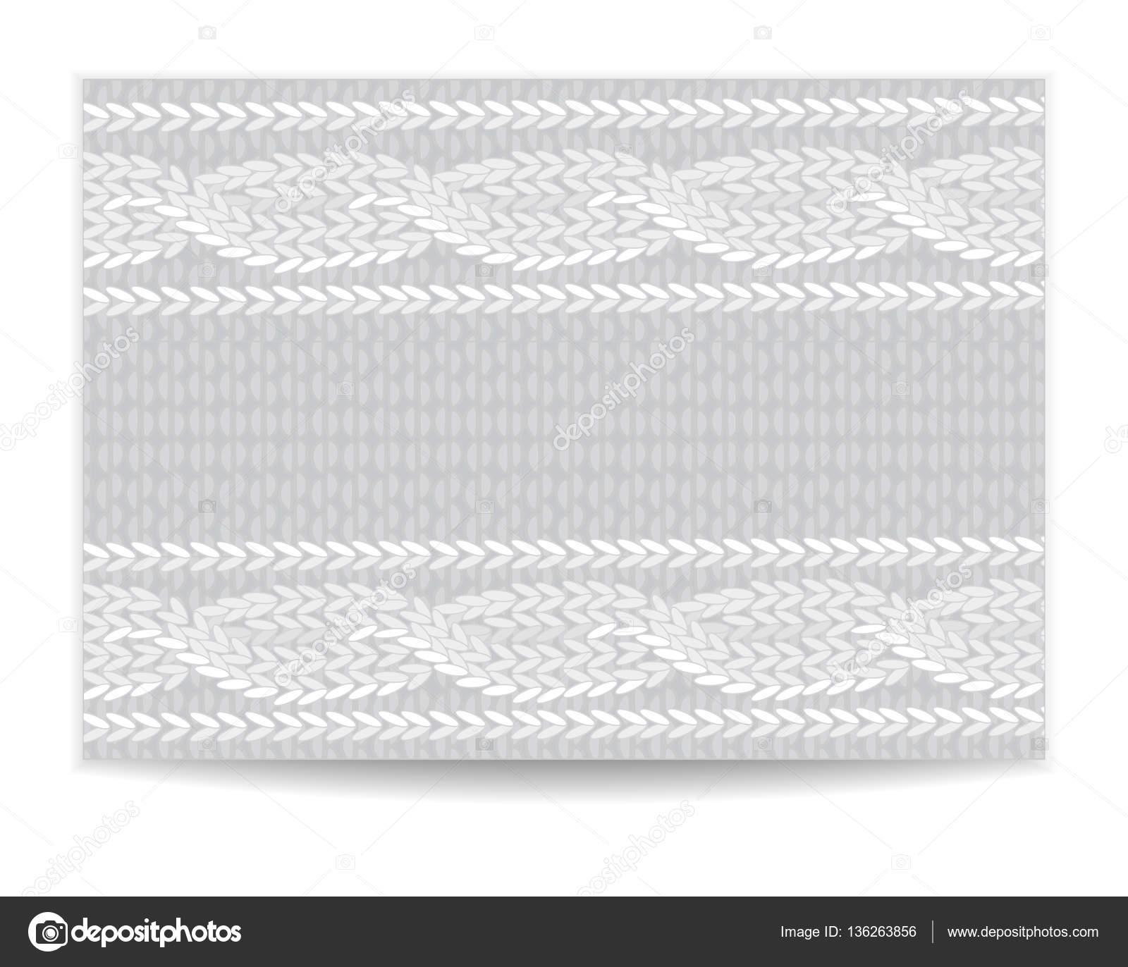 Invitación de la plantilla, patrón de tejido de punto — Vector de ...