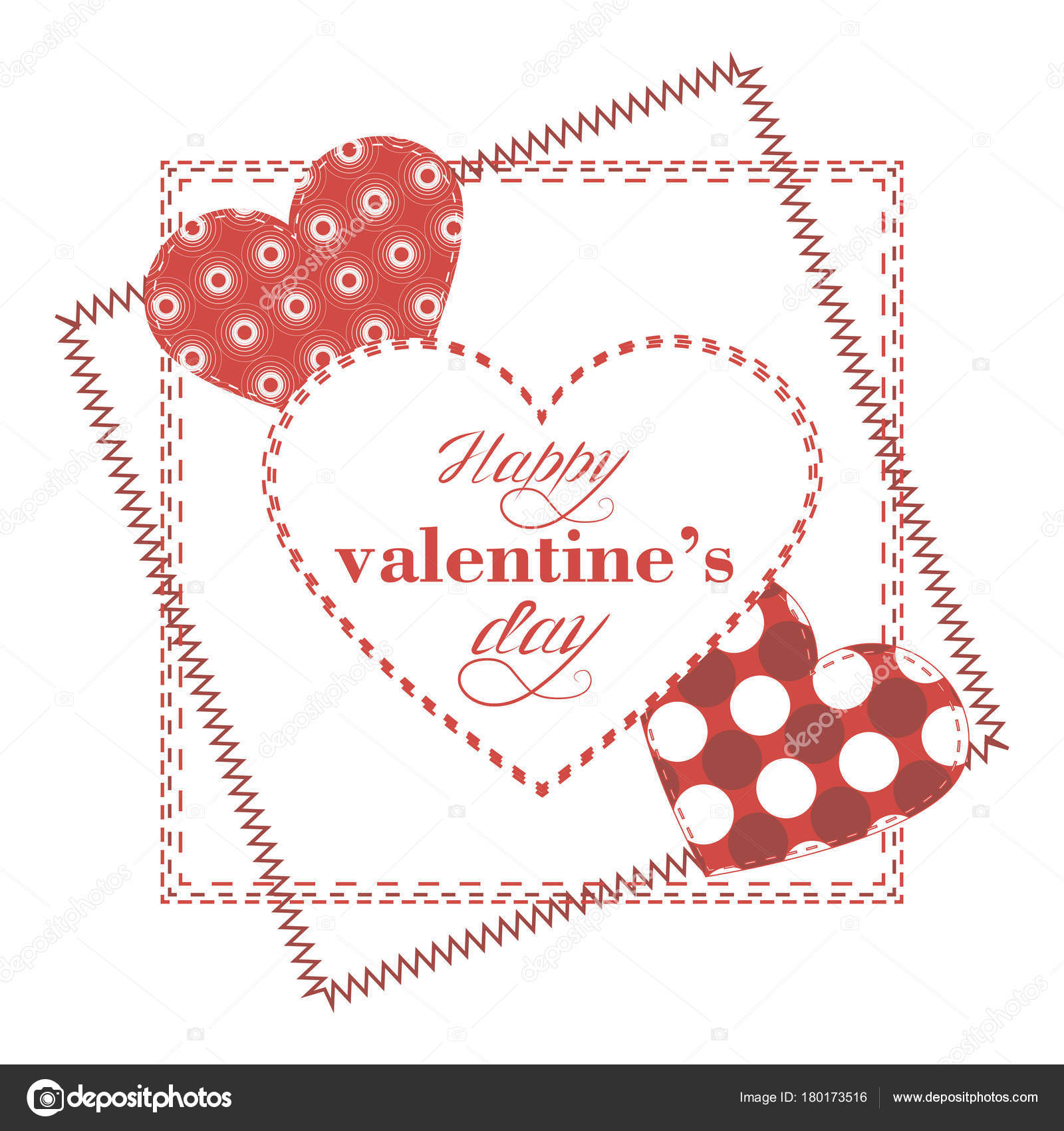 Gratulation-Vorlage zum Valentinstag — Stockvektor © Minyanna #180173516