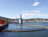 Fotografia militare nave in un porto
