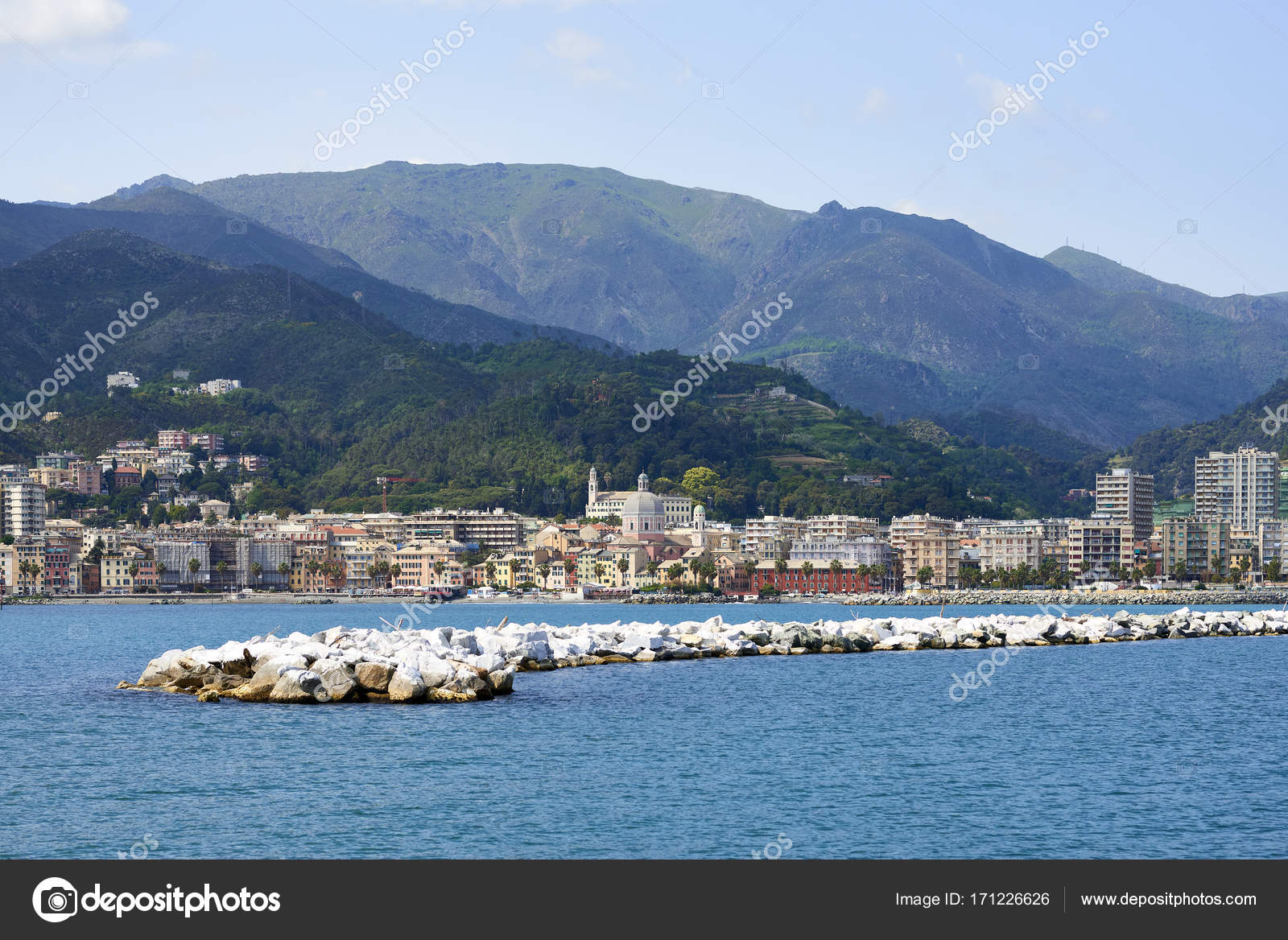 View Of Genova Pegli U2014 Stock Photo