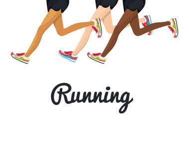 poster running legs design isolated