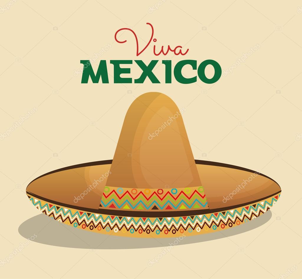 Diseño de sombrero mexicano color beige — Archivo Imágenes Vectoriales a89a0061a9b