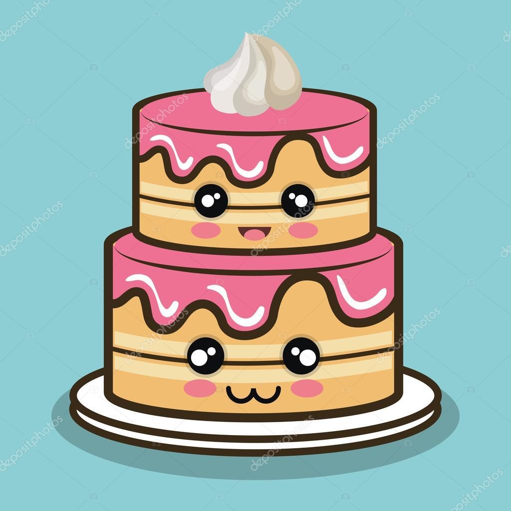Dibujos: pasteles de | dibujos animados pastel grande con ...  Dibujos: pastel...