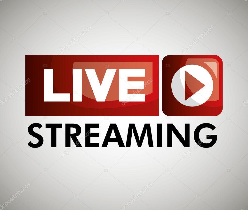 Cone de boto live streaming design grfico vetores de stock cone de boto live streaming design grfico vetores de stock stopboris Images