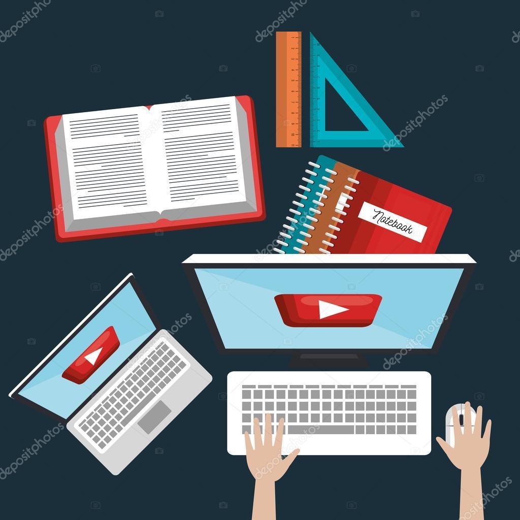 technische Online-Bildung. Lesen e-Learning-Studium Grafik ...